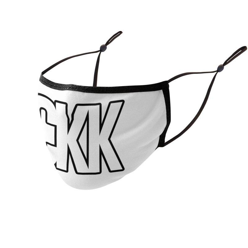 CKK (White/Outlined) Accessories Face Mask by ckkompanion's Artist Shop