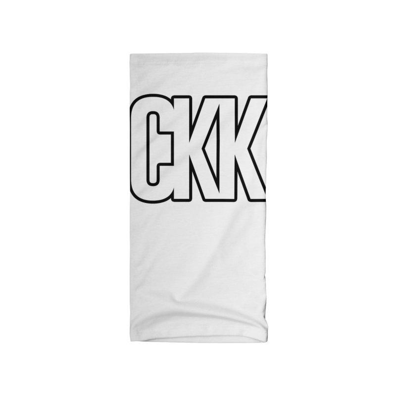 CKK (White/Outlined) Accessories Neck Gaiter by ckkompanion's Artist Shop
