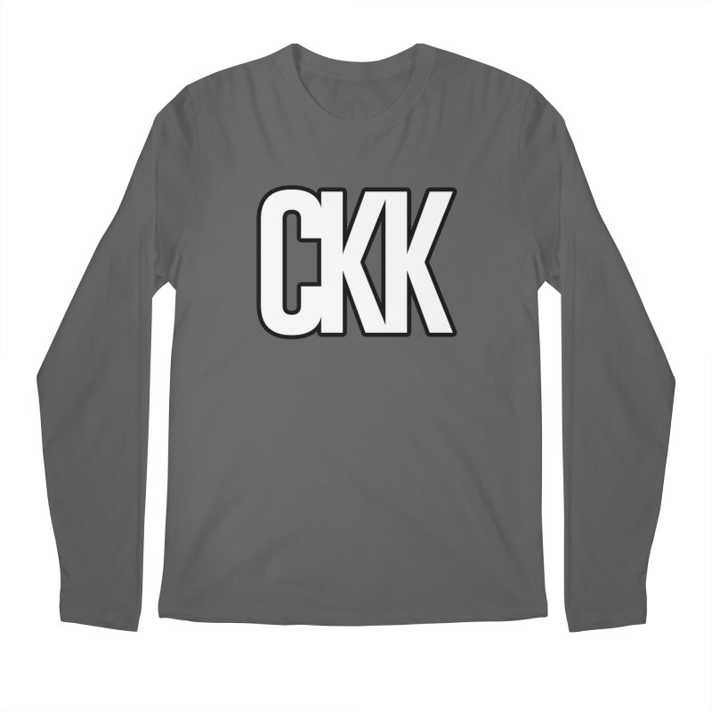 CKK (White/Outlined) Men's Longsleeve T-Shirt by ckkompanion's Artist Shop