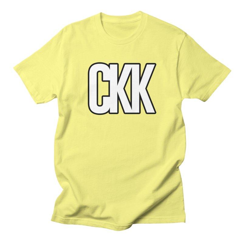CKK (White/Outlined) Men's T-Shirt by ckkompanion's Artist Shop