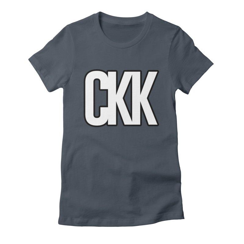 CKK (White/Outlined) Women's T-Shirt by ckkompanion's Artist Shop