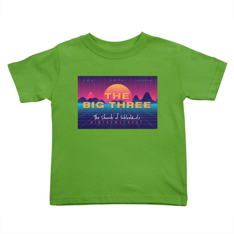 The Big Three (80's Style) Kids Toddler T-Shirt by ckkompanion's Artist Shop