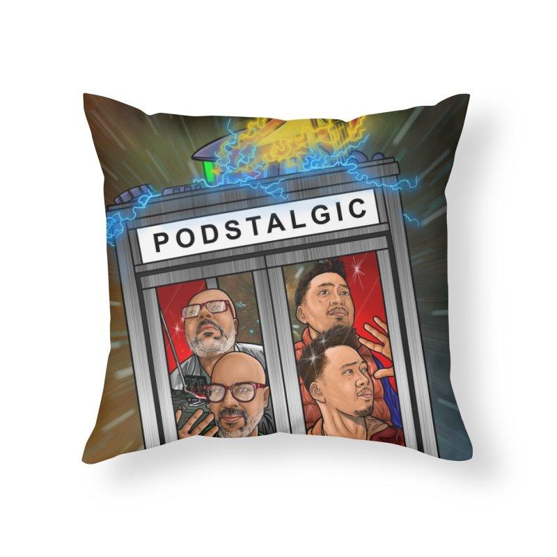 Podstalgic Logo (Bonus design) Home Throw Pillow by ckkompanion's Artist Shop