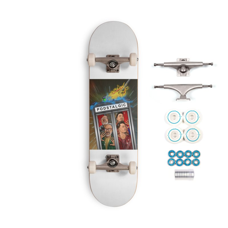 Podstalgic Logo (Bonus design) Accessories Skateboard by ckkompanion's Artist Shop