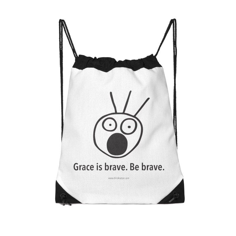 Grace is brave. Be brave. Accessories Bag by Chris Kratzer Artist Shop