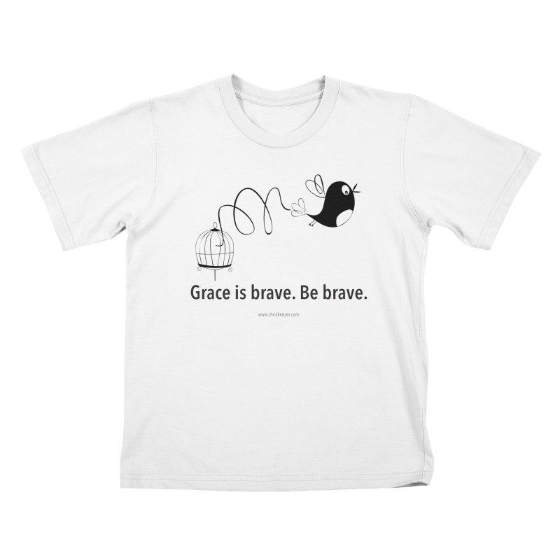Grace is brave. Be brave. (bird) Kids Toddler T-Shirt by Chris Kratzer Artist Shop