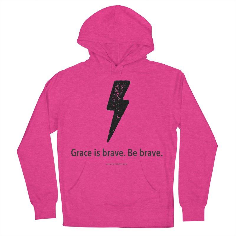Grace is brave. Be brave. (bolt) Men's Pullover Hoody by Chris Kratzer Artist Shop