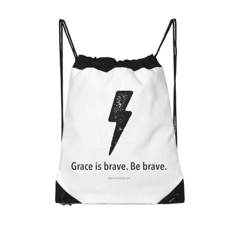 Grace is brave. Be brave. (bolt) Accessories Bag by Chris Kratzer Artist Shop