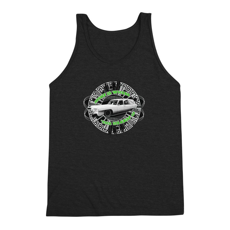 Home is Where the Hearse Is Men's Triblend Tank by Clare Bohning's Shop