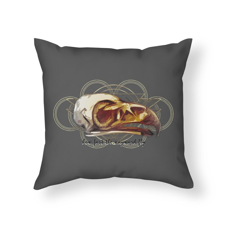 How Fast the Wayward Fly Home Throw Pillow by Clare Bohning's Shop