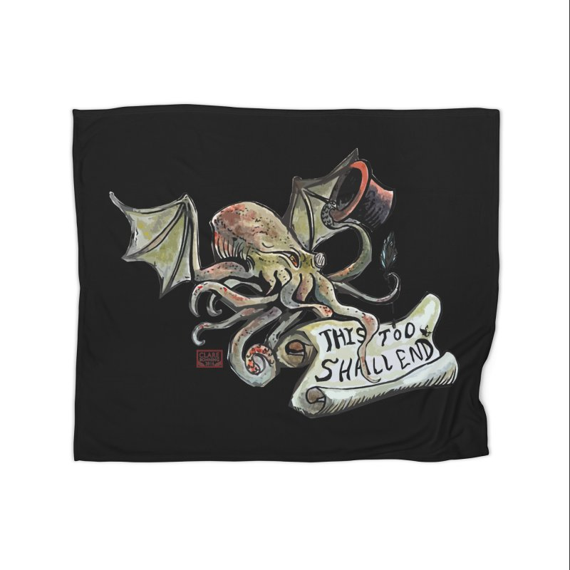 This Too Shall End Home Fleece Blanket Blanket by Clare Bohning's Shop