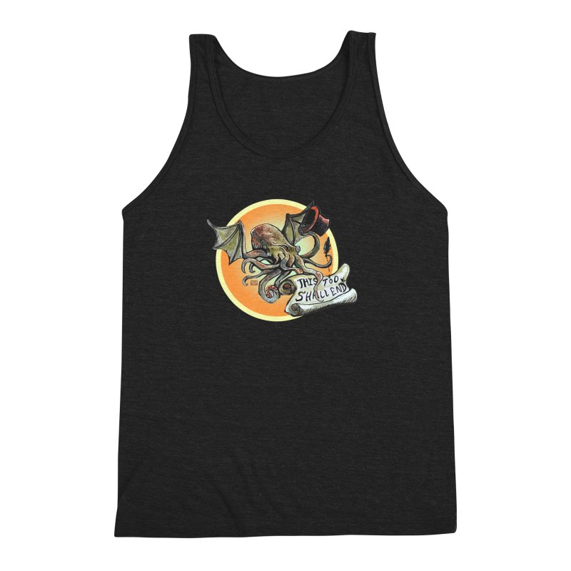 This Too Shall End Men's Triblend Tank by Clare Bohning's Shop