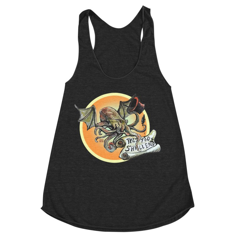 This Too Shall End Women's Racerback Triblend Tank by Clare Bohning's Shop