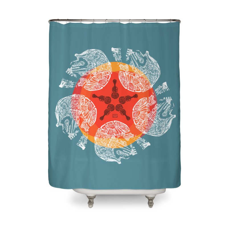 Voltaire Home Shower Curtain by Clare Bohning's Shop