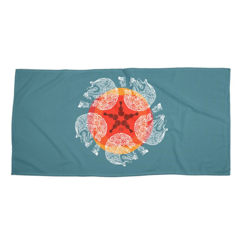 Voltaire Accessories Beach Towel by Clare Bohning's Shop