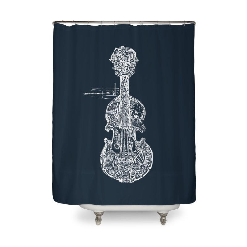 Revenge Of The 5th Note Home Shower Curtain by Clare Bohning's Shop