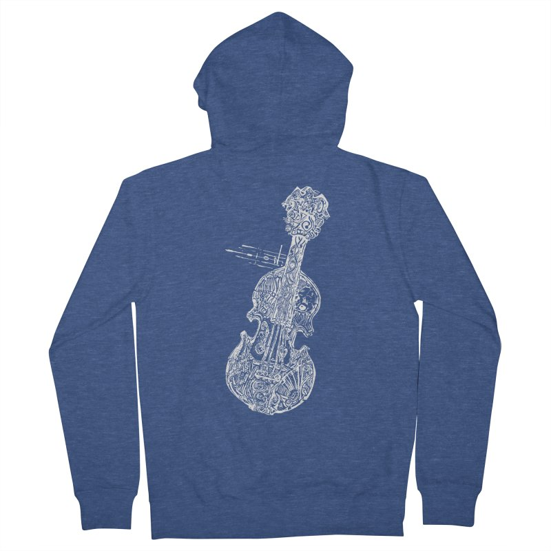 Revenge Of The 5th Note Men's French Terry Zip-Up Hoody by Clare Bohning's Shop