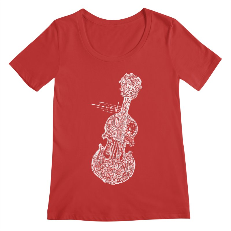 Revenge Of The 5th Note Women's Regular Scoop Neck by Clare Bohning's Shop