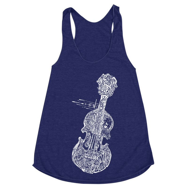 Revenge Of The 5th Note Women's Racerback Triblend Tank by Clare Bohning's Shop