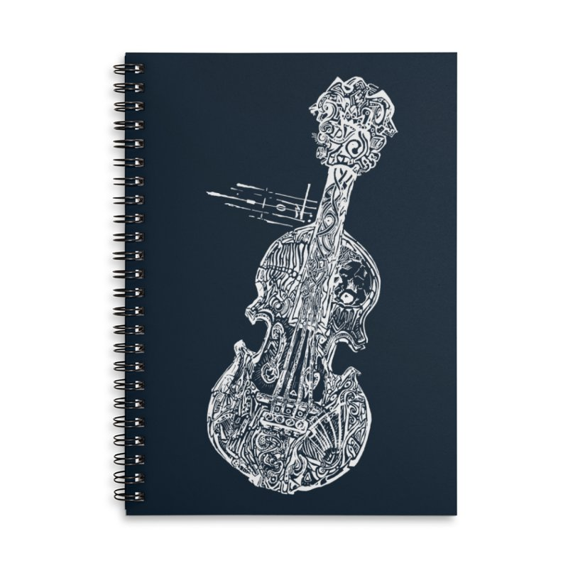 Revenge Of The 5th Note Accessories Lined Spiral Notebook by Clare Bohning's Shop