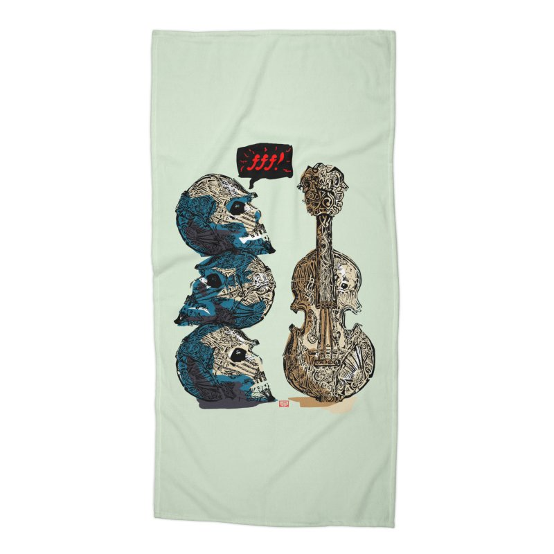 Fortissimo Accessories Beach Towel by Clare Bohning's Shop