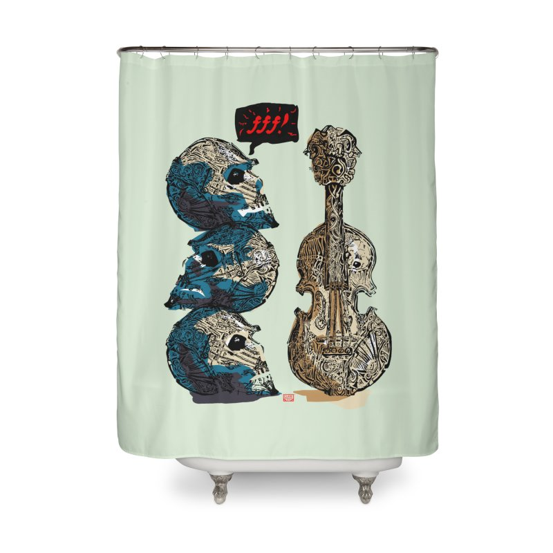 Fortissimo Home Shower Curtain by Clare Bohning's Shop