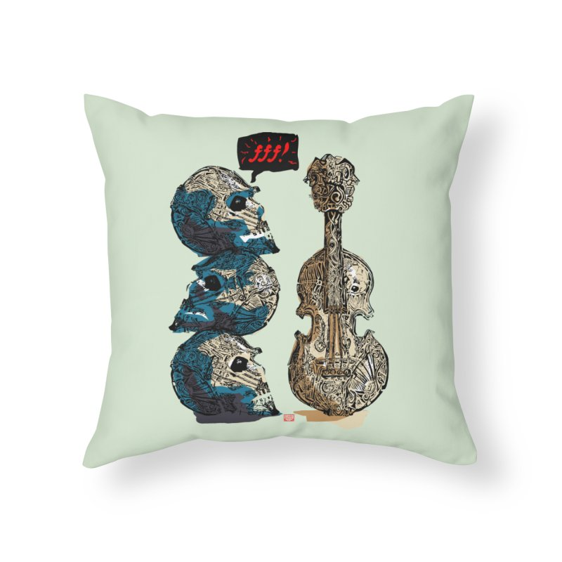 Fortissimo Home Throw Pillow by Clare Bohning's Shop