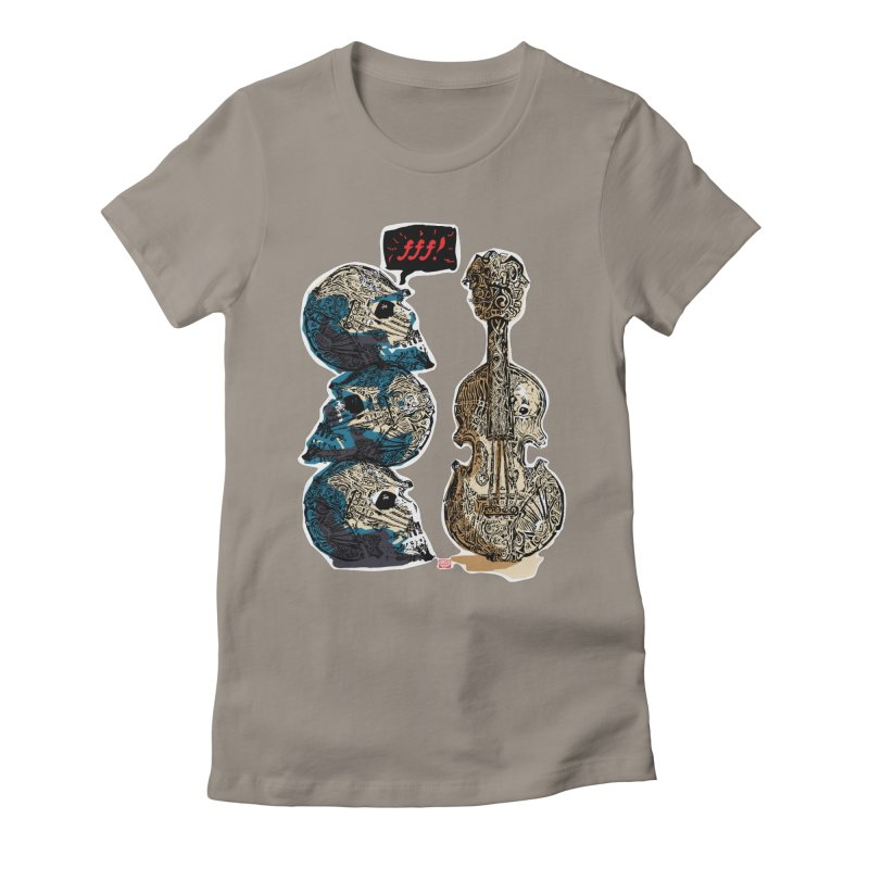 Fortissimo Women's Fitted T-Shirt by Clare Bohning's Shop