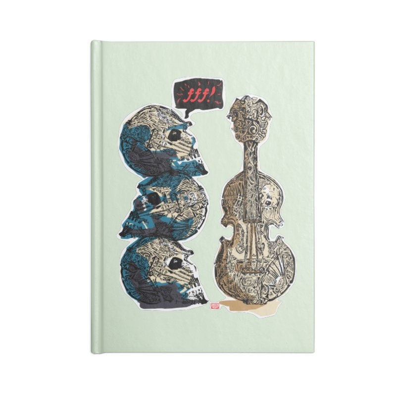 Fortissimo Accessories Lined Journal Notebook by Clare Bohning's Shop