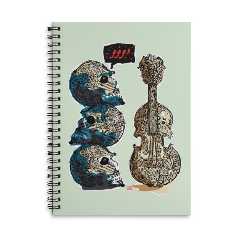 Fortissimo Accessories Lined Spiral Notebook by Clare Bohning's Shop