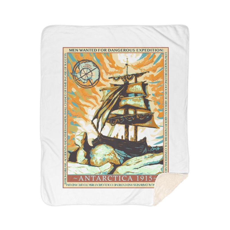 The Endurance Home Sherpa Blanket Blanket by Clare Bohning's Shop