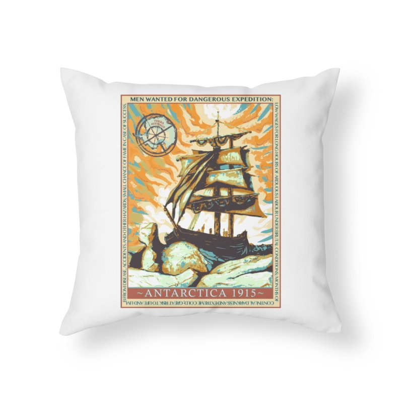 The Endurance Home Throw Pillow by Clare Bohning's Shop