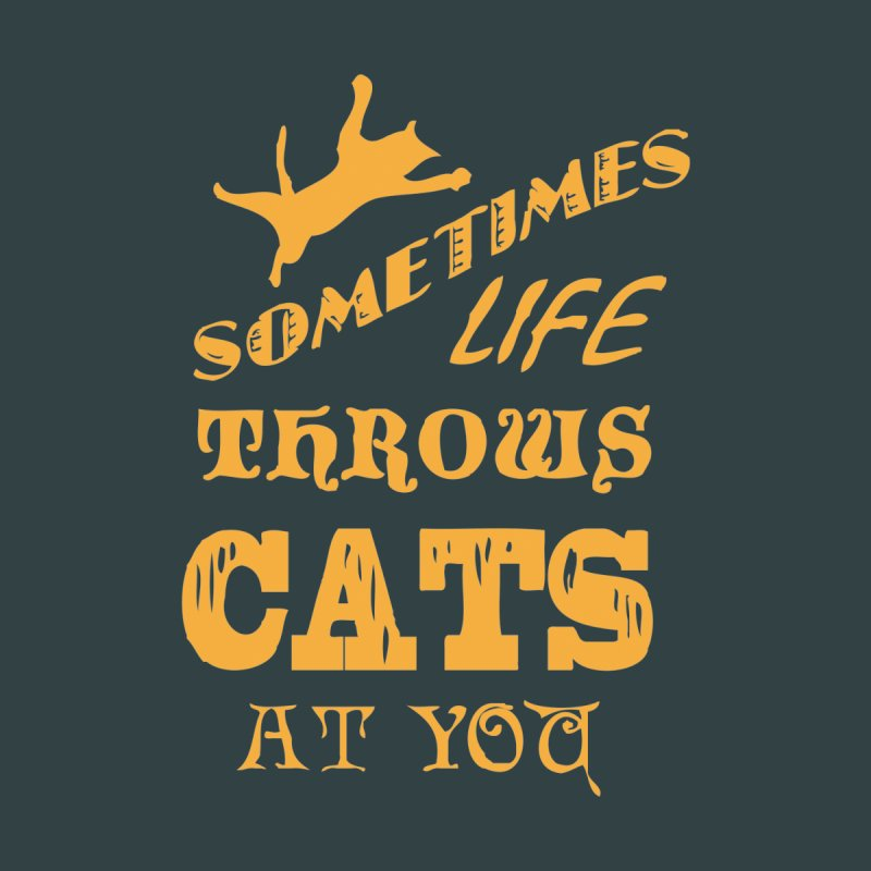Sometimes Life Throws Cats At You Women's Sweatshirt by Clare Bohning's Shop
