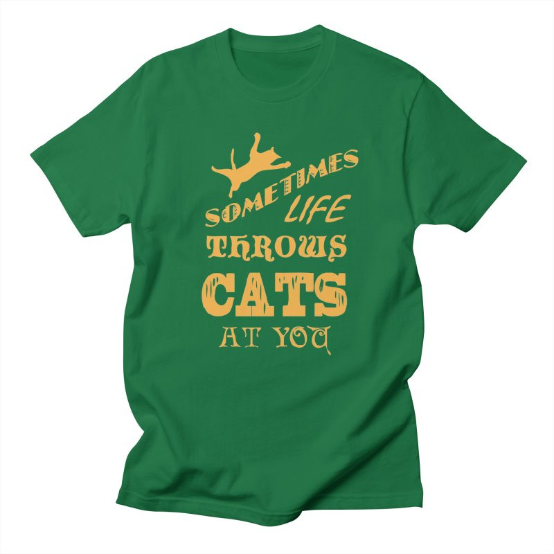 Sometimes Life Throws Cats At You Men's T-Shirt by Clare Bohning's Shop