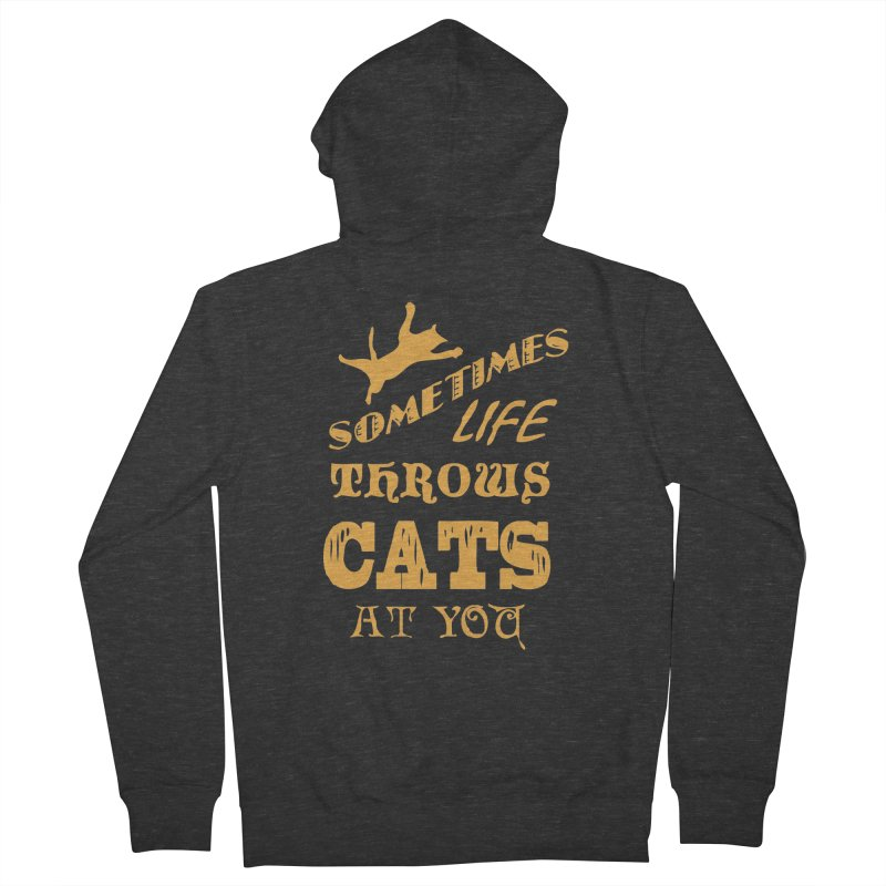 Sometimes Life Throws Cats At You Women's French Terry Zip-Up Hoody by Clare Bohning's Shop