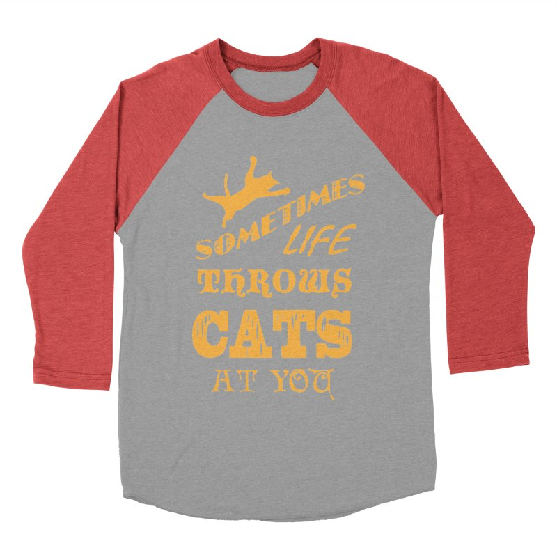 Sometimes Life Throws Cats At You Men's Longsleeve T-Shirt by Clare Bohning's Shop