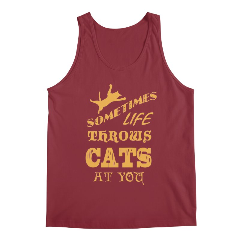 Sometimes Life Throws Cats At You Men's Tank by Clare Bohning's Shop