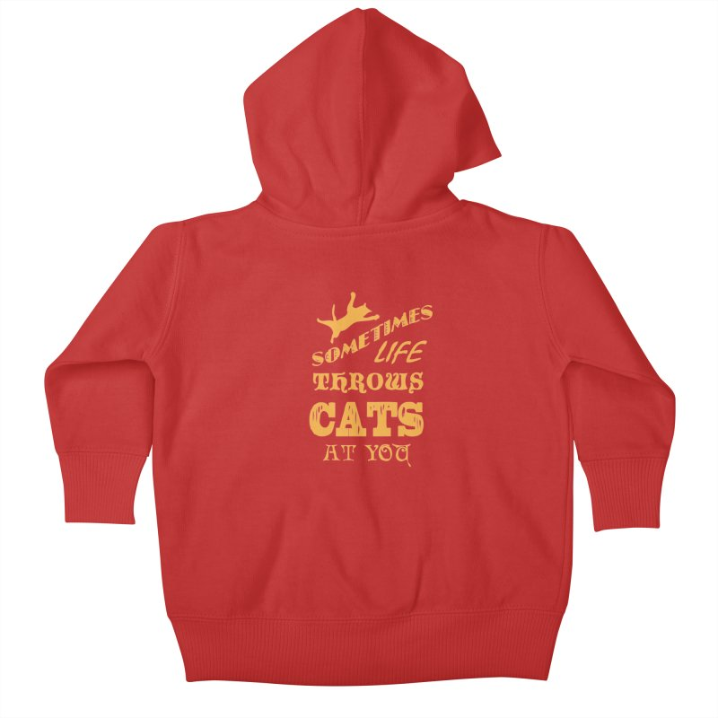 Sometimes Life Throws Cats At You Kids Baby Zip-Up Hoody by Clare Bohning's Shop