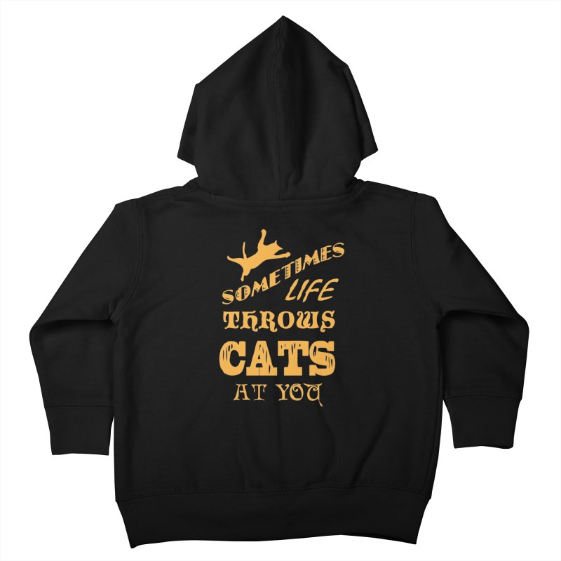 Sometimes Life Throws Cats At You Kids Toddler Zip-Up Hoody by Clare Bohning's Shop