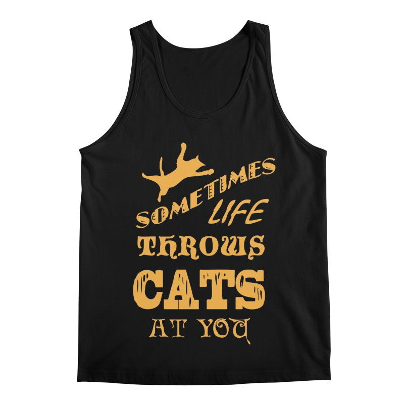 Sometimes Life Throws Cats At You Men's Regular Tank by Clare Bohning's Shop
