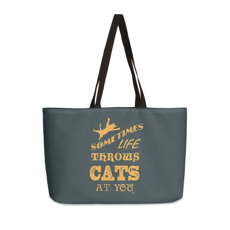 Sometimes Life Throws Cats At You Accessories Weekender Bag Bag by Clare Bohning's Shop