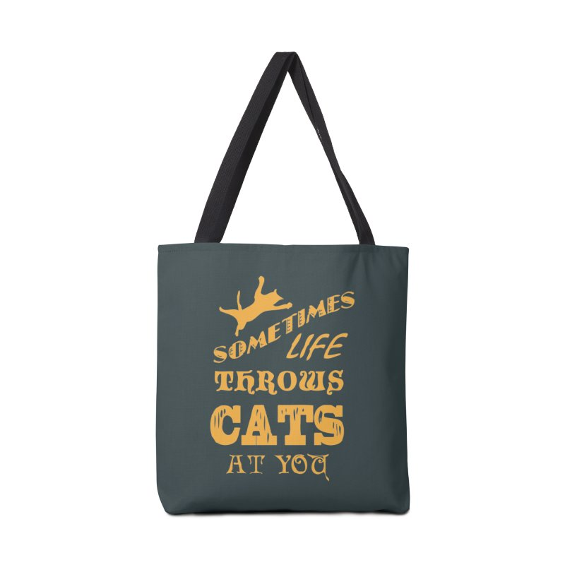 Sometimes Life Throws Cats At You Accessories Tote Bag Bag by Clare Bohning's Shop