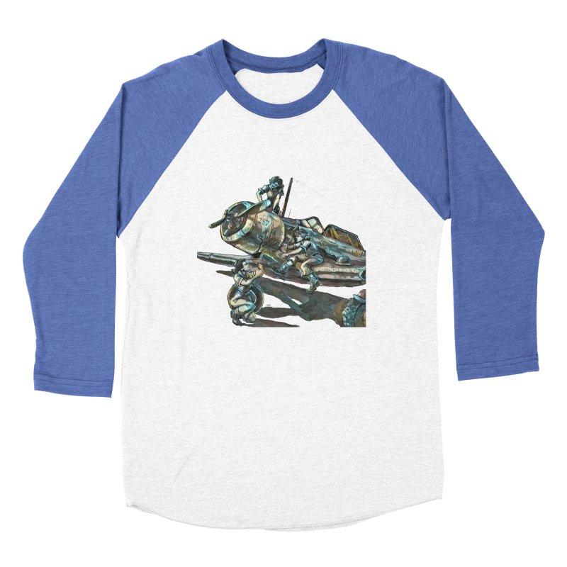 Navy Gals Men's Baseball Triblend Longsleeve T-Shirt by Clare Bohning's Shop