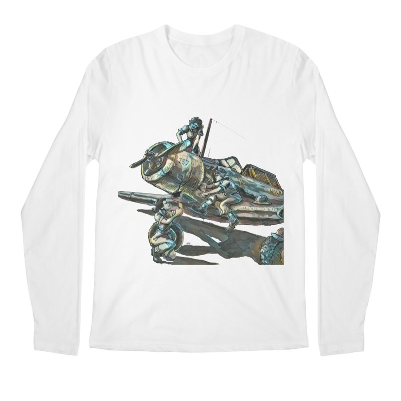 Navy Gals Men's Regular Longsleeve T-Shirt by Clare Bohning's Shop