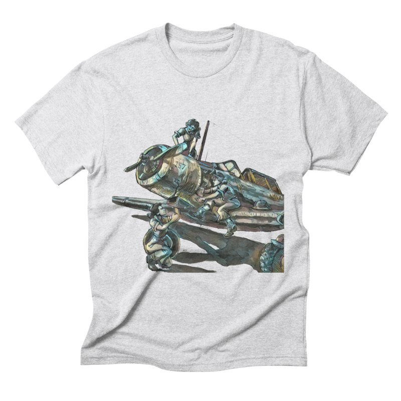 Navy Gals Men's Triblend T-Shirt by Clare Bohning's Shop