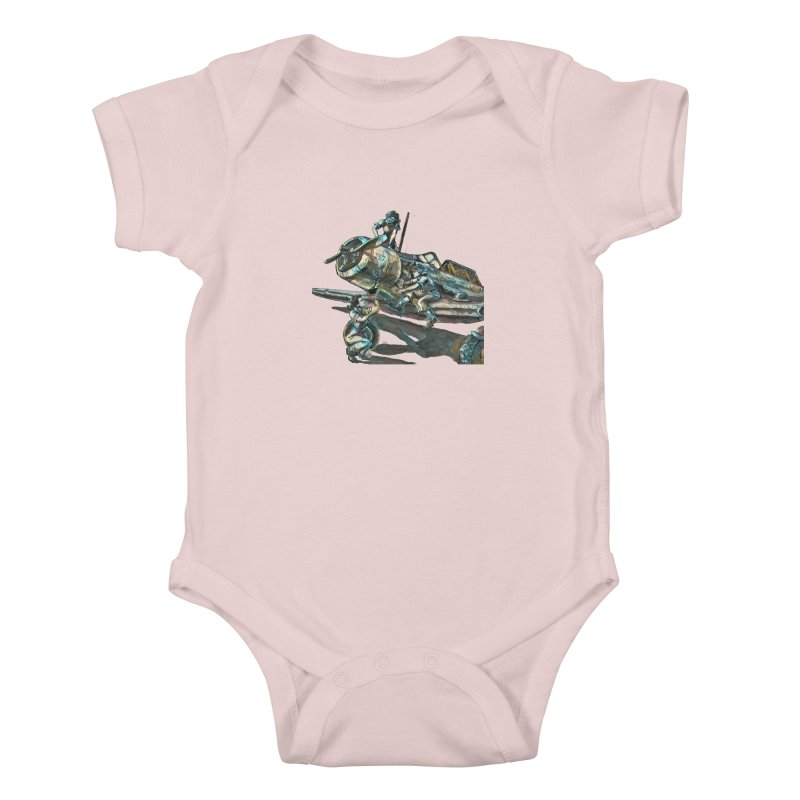 Navy Gals Kids Baby Bodysuit by Clare Bohning's Shop