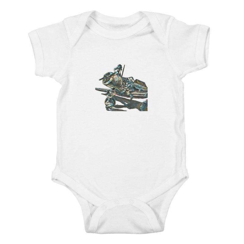 Navy Gals Kids Baby Bodysuit by Clare Bohning's Shop