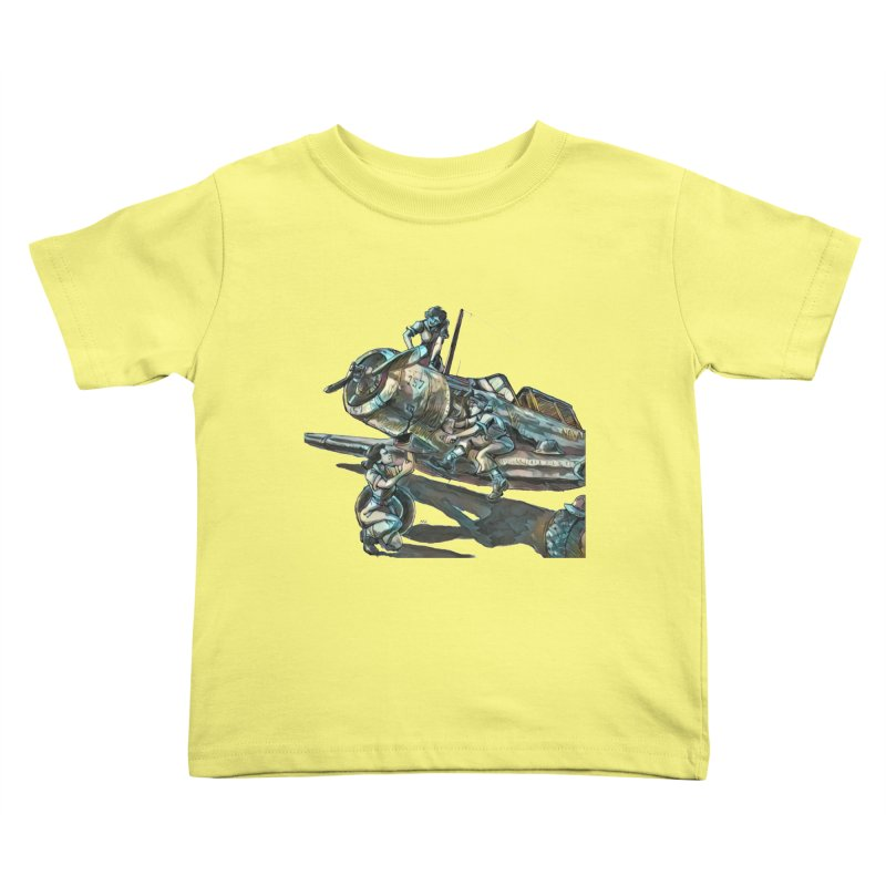 Navy Gals Kids Toddler T-Shirt by Clare Bohning's Shop