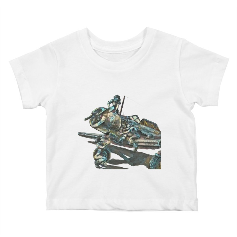 Navy Gals Kids Baby T-Shirt by Clare Bohning's Shop