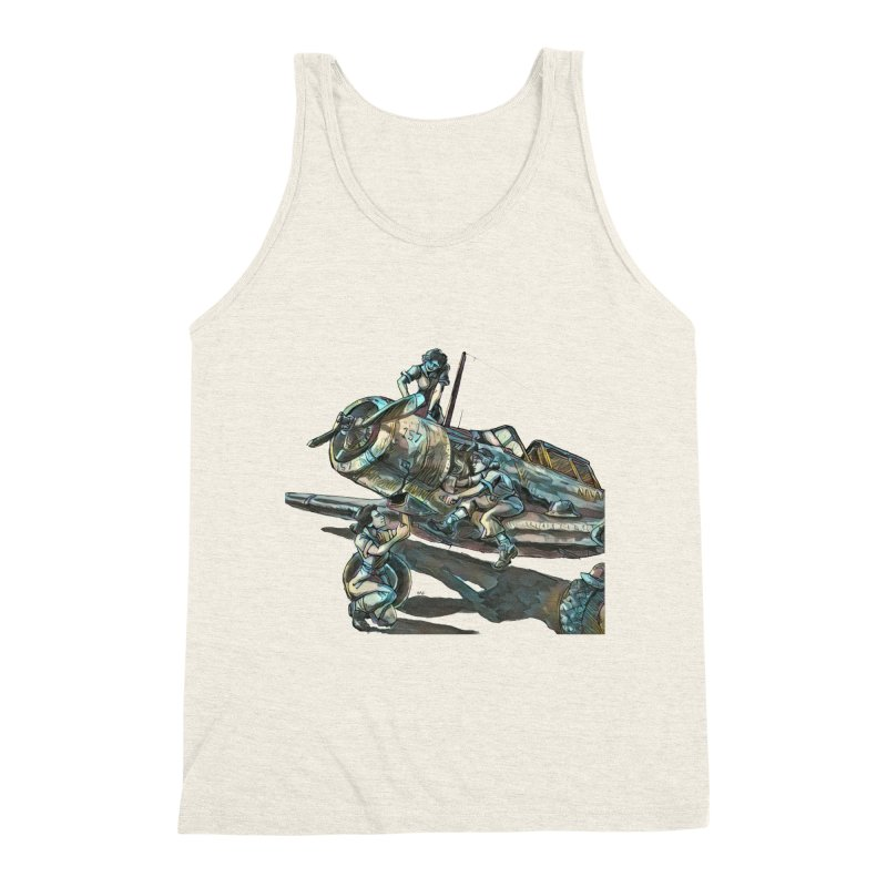 Navy Gals Men's Triblend Tank by Clare Bohning's Shop